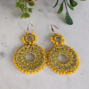 Yellow Gold Boho Gypsy Earrings